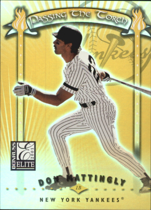2001 Donruss Elite Passing the Torch #PT15 Don Mattingly