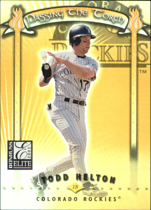 2001 Donruss Elite Passing the Torch #PT16 Todd Helton