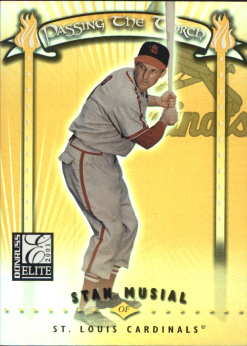 2001 Donruss Elite Passing the Torch #PT17 S.Musial/T.Gwynn