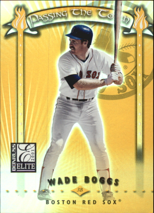 2001 Donruss Elite Passing the Torch #PT23 W.Boggs/N.Garciaparra