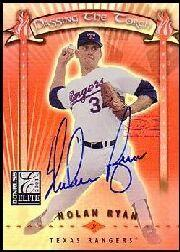 2001 Donruss Elite Passing the Torch Autographs #PT22B Nolan Ryan/Pedro Martinez BB