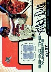 2001 E-X Behind the Numbers Game Jersey Autograph #3 Albert Belle/88