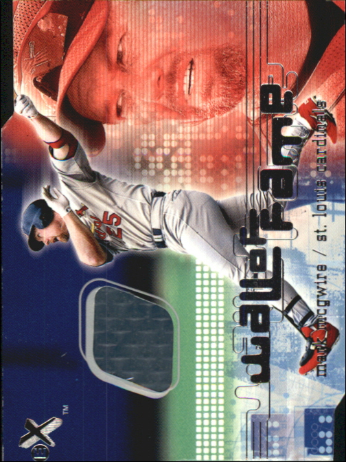 2001 E-X Wall of Fame #20 Mark McGwire