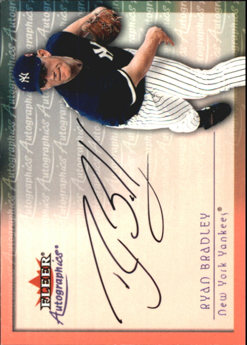 2001 Fleer Autographics #12 Ryan Bradley