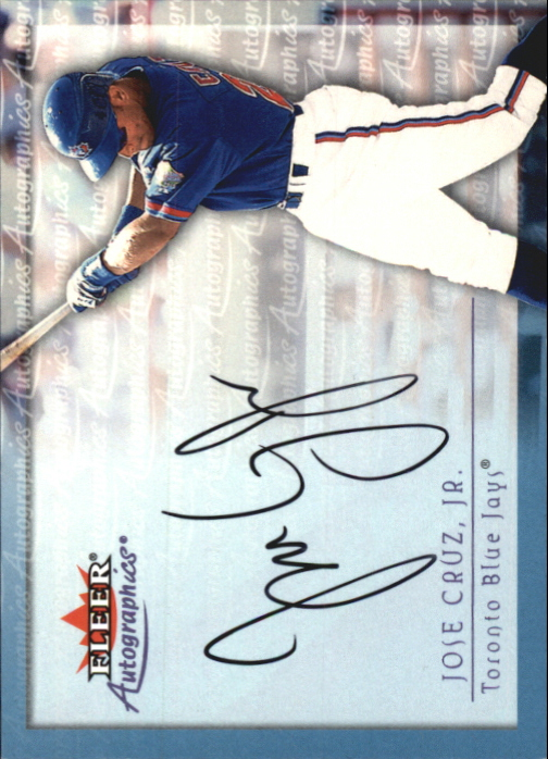 2001 Fleer Autographics #22 Jose Cruz Jr.