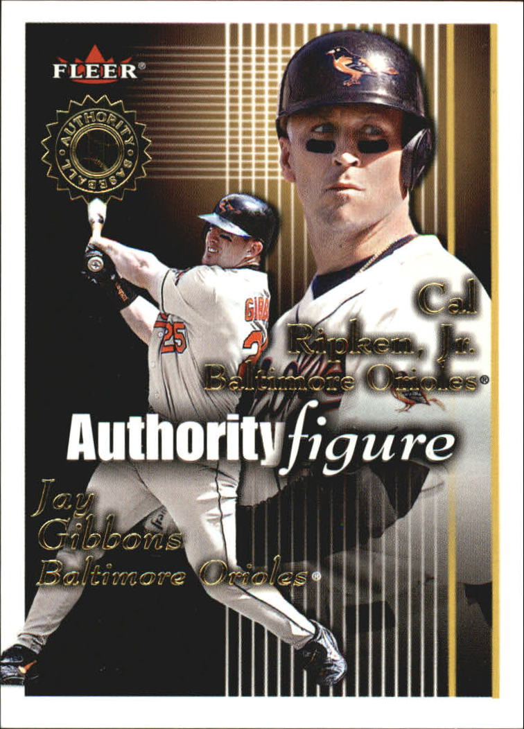 2001 Fleer Authority Figures #7 C.Ripken/J.Gibbons