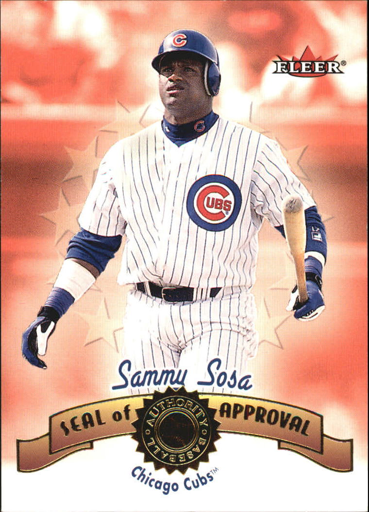 2001 Fleer Authority Seal of Approval #14 Sammy Sosa