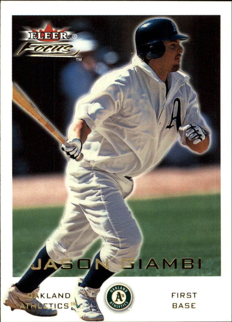 2001 Fleer Focus #37 Jason Giambi