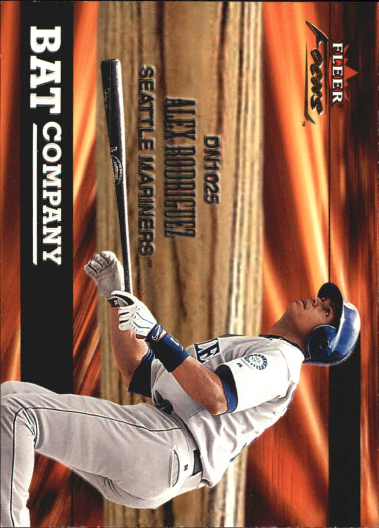 2001 Fleer Focus Bat Company #BC10 Alex Rodriguez