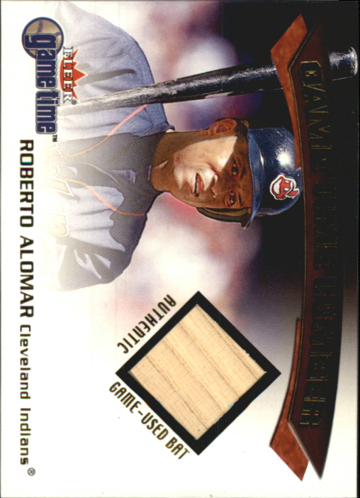 2001 Fleer Game Time Lumber #1 Roberto Alomar
