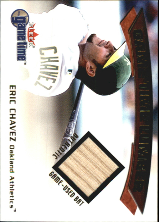 2001 Fleer Game Time Lumber #7 Eric Chavez