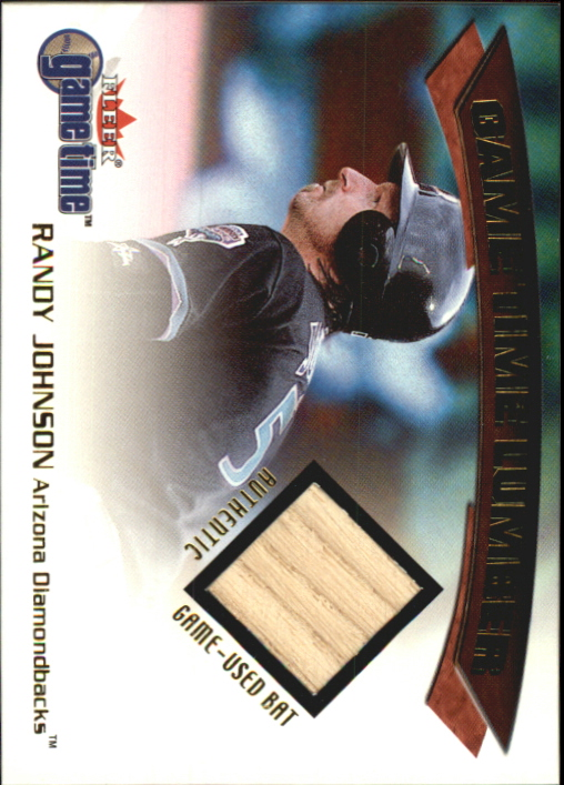 2001 Fleer Game Time Lumber #17 Randy Johnson