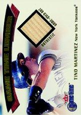 2001 Fleer Game Time Lumber #20 Tino Martinez