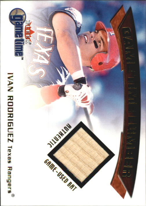 2001 Fleer Game Time Lumber #22 Ivan Rodriguez