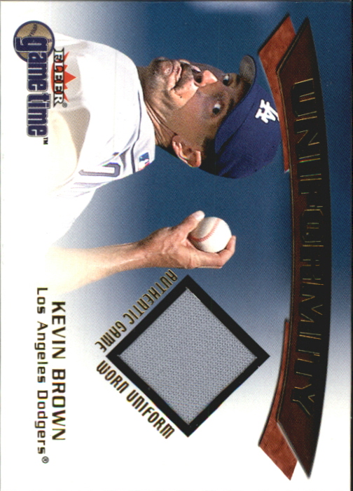 2001 Fleer Game Time Uniformity #2 Kevin Brown