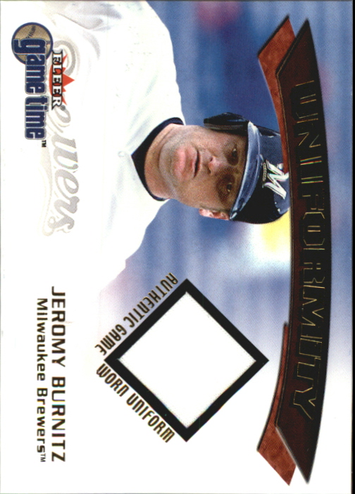 2001 Fleer Game Time Uniformity #4 Jeromy Burnitz