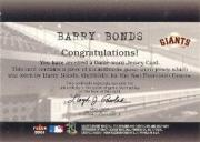 2001 Fleer Genuine Final Cut #2 Barry Bonds SP/330 back image
