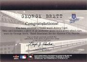 2001 Fleer Genuine Final Cut #3 George Brett back image