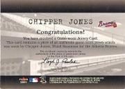 2001 Fleer Genuine Final Cut #12 Chipper Jones back image