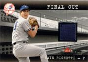 2001 Fleer Genuine Final Cut #18 Dave Righetti SP