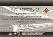2001 Fleer Genuine Final Cut #19 Cal Ripken back image
