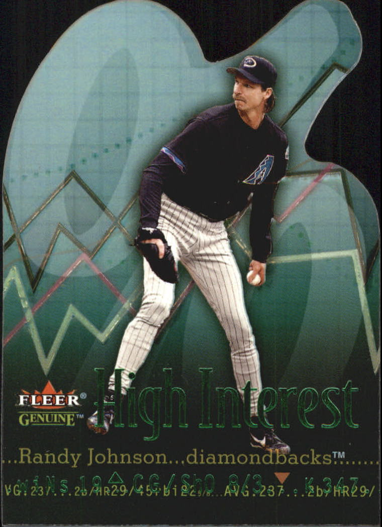 2001 Fleer Genuine High Interest #HI12 Randy Johnson