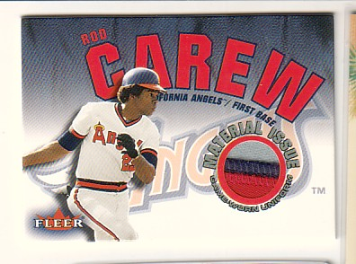 2001 Fleer Genuine Material Issue #RC Rod Carew SP