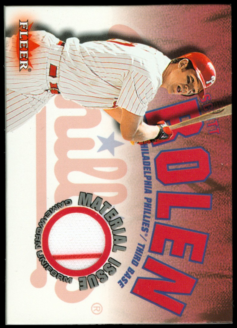 2001 Fleer Genuine Material Issue #SR Scott Rolen