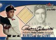 2001 Fleer Genuine Names Of The Game Autographs #3 Rocky Colavito Bat