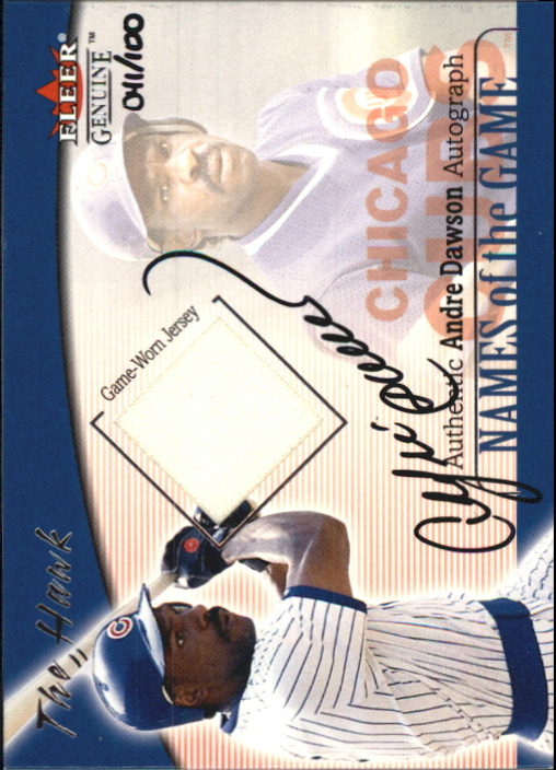 2001 Fleer Genuine Names Of The Game Autographs #4 Andre Dawson Jsy