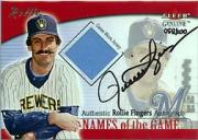 2001 Fleer Genuine Names Of The Game Autographs #6 Rollie Fingers Jsy