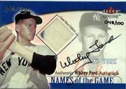 2001 Fleer Genuine Names Of The Game Autographs #8 Whitey Ford Jsy