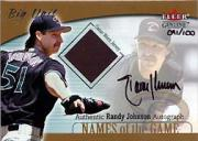 2001 Fleer Genuine Names Of The Game Autographs #10 Randy Johnson Jsy
