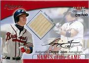 2001 Fleer Genuine Names Of The Game Autographs #11 Chipper Jones Bat