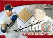 2001 Fleer Genuine Names Of The Game Autographs #12 Harmon Killebrew Bat