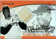 2001 Fleer Genuine Names Of The Game Autographs #14 Willie McCovey Bat