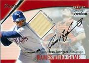 2001 Fleer Genuine Names Of The Game Autographs #18 Ivan Rodriguez Bat