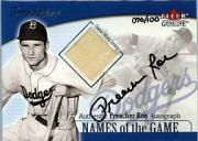 2001 Fleer Genuine Names Of The Game Autographs #19 Preacher Roe Jsy