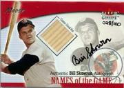 2001 Fleer Genuine Names Of The Game Autographs #22 Bill Skowron Bat