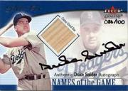 2001 Fleer Genuine Names Of The Game Autographs #24 Duke Snider Bat