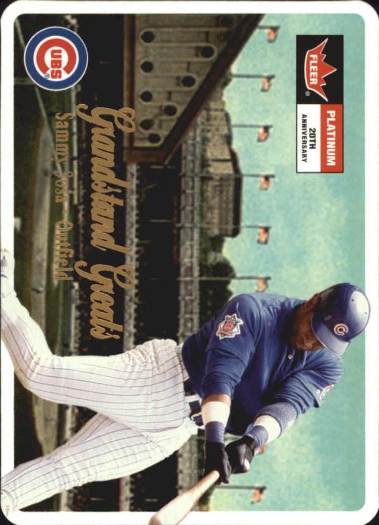 2001 Fleer Platinum Grandstand Greats #GG10 Sammy Sosa