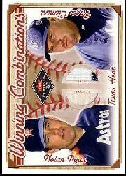 2001 Fleer Platinum Winning Combinations Memorabilia #16 Nolan Ryan/Roger Clemens