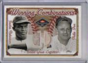 2001 Fleer Platinum Winning Combinations Memorabilia #35 Jackie Robinson/Nellie Fox