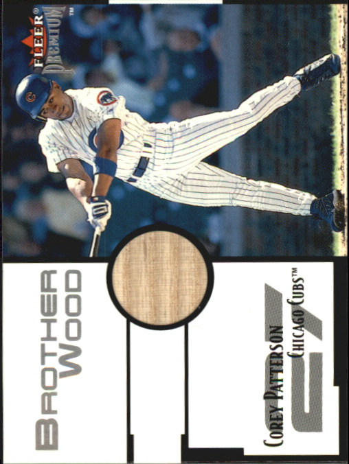 2001 Fleer Premium Brother Wood #BW3 Corey Patterson