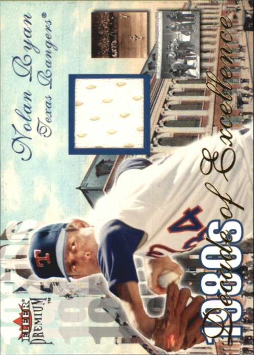 2001 Fleer Premium Decades of Excellence Memorabilia #17 Nolan Ryan Jsy