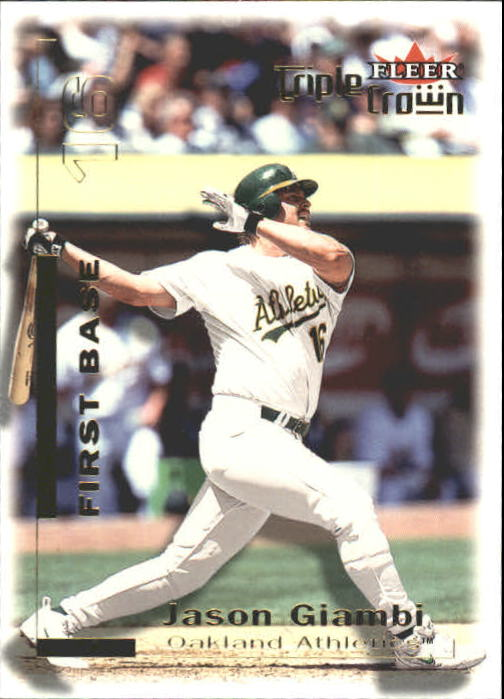 2001 Fleer Triple Crown #4 Jason Giambi