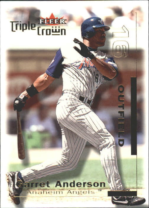 2001 Fleer Triple Crown #7 Garret Anderson