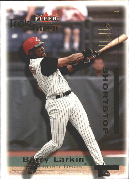 2001 Fleer Triple Crown #16 Barry Larkin