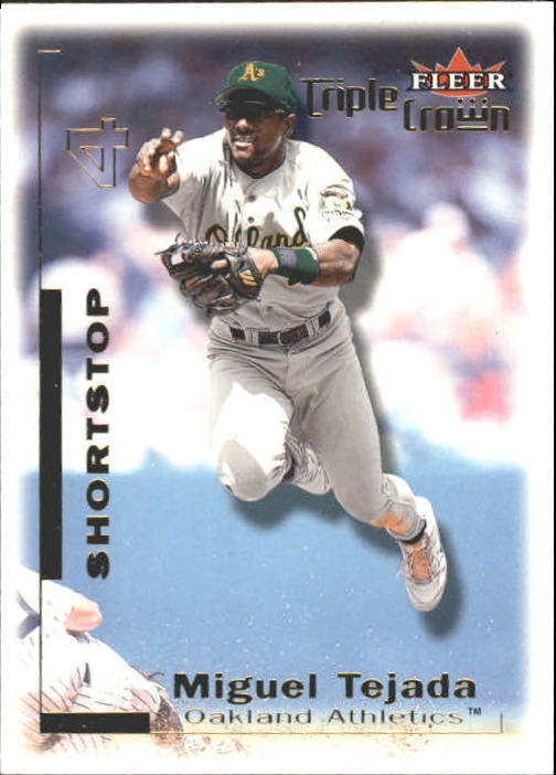 2001 Fleer Triple Crown #73 Miguel Tejada