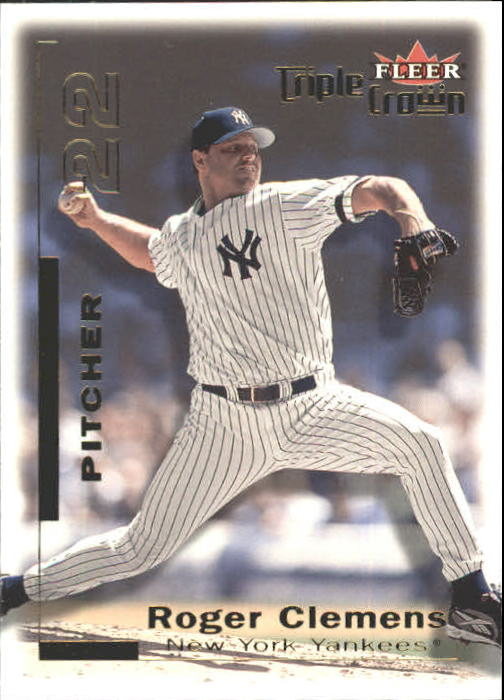 2001 Fleer Triple Crown #149 Roger Clemens front image
